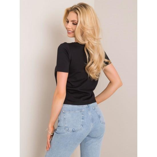 Дамска тениска в черен цвят Rue Paris | Дамски тениски на ниски цени | Дрехи за жени | Brando.bg