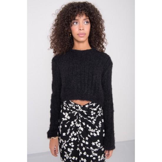 Дамски пуловер в черен цвят Bsl | Дрехи За Жени | Пуловери За Жени Brando.bg