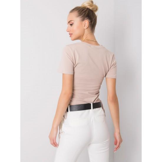 Дамска тениска в бежов цвят   Тениски За Жени Онлайн - Brando.bg