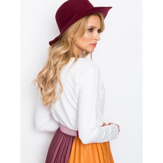 Дамска ежедневна блуза с дълъг ръкав в бял цвят  | Дамски Дрехи | Блузи | Brando.bg