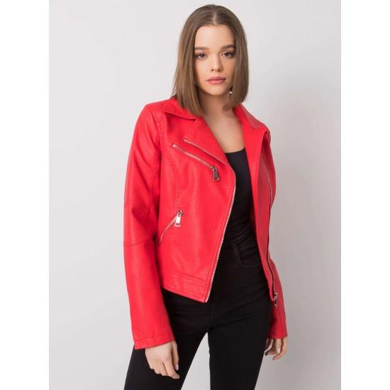 Дамско кожено яке в червен цвят   Дамски Връхни Дрехи   Brando.bg