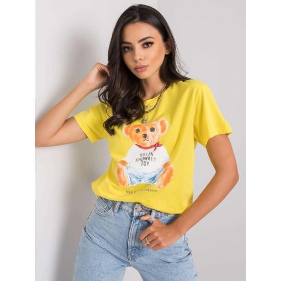Дамска тениска в жълт цвят | Дрехи За Жени | Дамски Тениски - Brando.bg