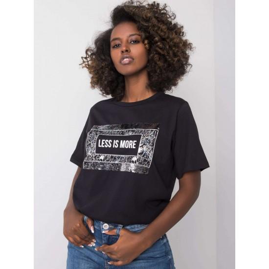 Дамска тениска в черен цвят | Дрехи за жени на ниски цени | Дамски Тениски - Brando.bg