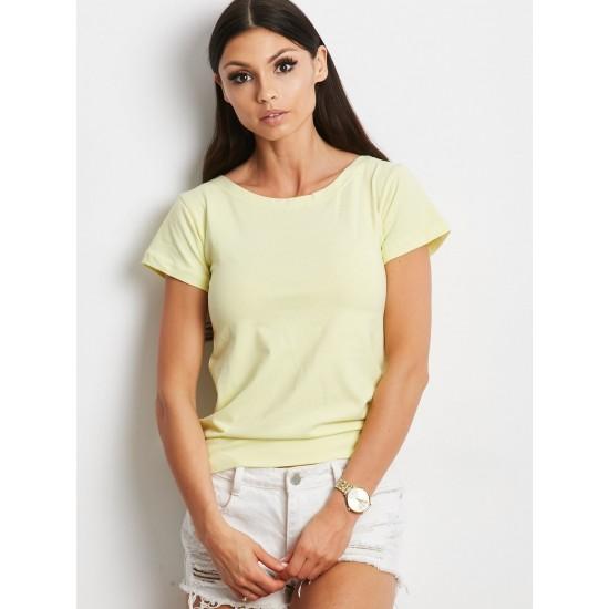 Дамска тениска в жълт цвят | Дамски Дрехи | Тениски - Brando.bg