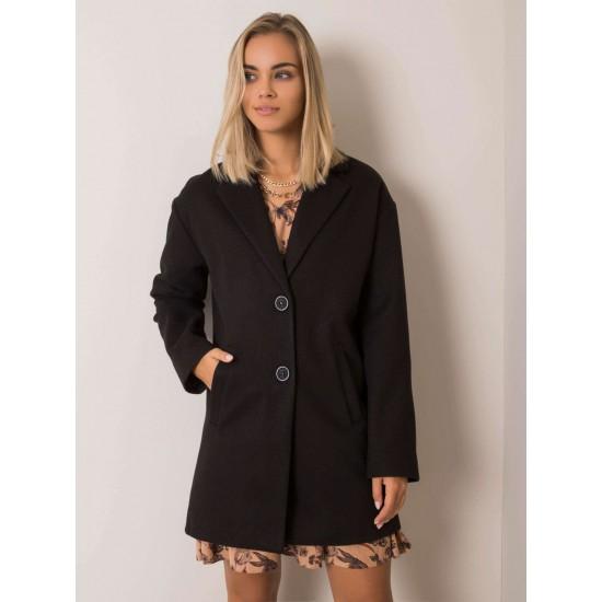 Дамско палто в черен цвят | Връхни Дрехи | Brando.bg